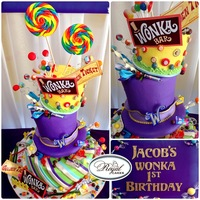 Wonka World Whimsical And Yummy 1St Birthday Willy Wonka Cake So Fun   ~Wonka World!~ Whimsical and yummy 1st Birthday Willy Wonka cake! So fun!