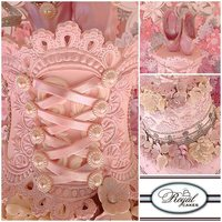Sweet Ballerina Pastel Pink Whimsical Cake Featuring Lace Pearls Sugar Flowers A Stunning Corset Amp Topped Of With Ballerina Slippers  Sweet Ballerina! Pastel Pink Whimsical Cake featuring lace, pearls, sugar flowers, a stunning corset & topped of with ballerina...