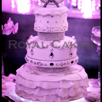 Marry Me The Perfect Engagement Cake Designed In Ruffles Chandelier Crystals And Our Signature Ring Topper Wwwroyalcakeslacom   Marry me! The perfect engagement cake, designed in ruffles, chandelier crystals and our signature ring topper! www.RoyalCakesLA.com