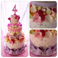 Hello Kitty!   Super fun & girly Hello Kitty cake!