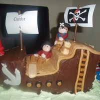 Pirate Theme Childrens Birthday Cake Pirate Theme Children's Birthday Cake