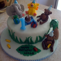 Boy's 1St Birthday Jungle Themed Cake Jungle themed 1st birthday cake