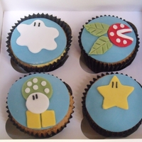 Super Mario Vanilla Cupcakes With Vanilla Buttercream These cupcakes are always a hit with the kids, they love them and they always get a great reaction! Great for birthday parties (and the...