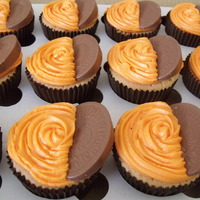 Orange Cupcakes With An Orange Cream Cheese Frosting And Terrys Chocolate Orange Segment  These orange cupcakes have been a hugh hit. Recently did a fete with the family and were selling these cakes in boxes of four and they ALL...