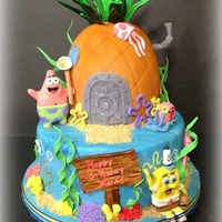 Spongebob Squarepants Birthday Cake  Spongebob, Patrick, Gary, and even Plankton want to wish you a happy birthday! Tons of details and a lot of fun. Plankton is caught in a...