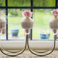 Pink Rose Cupcakes Pink and White wedding cupcakes