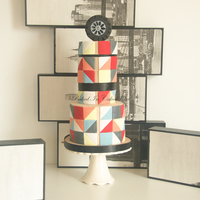 Art Deco Cake Art Deco groom's cake. Design inspired by AK Cake Designs
