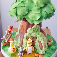 Winnie The Pooh And Friends Halloween Birthday Cake