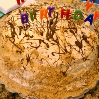 Ice Cream Cake 7 layered ice cream cake. Alternating layers of cake and ice cream.