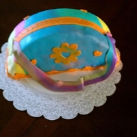 Tye Dye Purse Cake Marble cake made of Marshmallow Fondant.