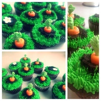 "Easter, Garden, Spring, Carrots, Dirt, Cupcakes The orange carrot part is ""candy clay"" sooo delicious! I would definitely make it again."