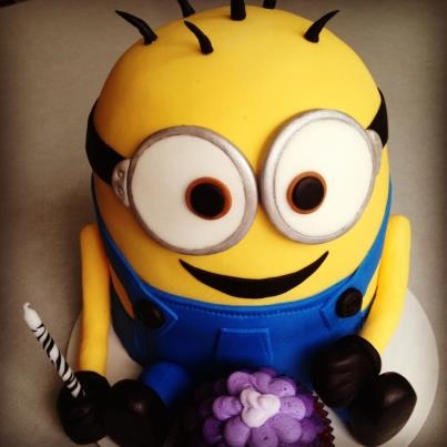 Despicable Me Minion *I made this a couple months ago for my 21st birthday.. but more for just the excuse to make one! He was on my cake bucket list. :)