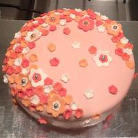 Girly Flowers Cake Girly Flowers Cake