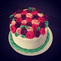 Ribbon Rose Cake *