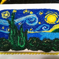 Van Gogh Starry Night Cake Starry night.