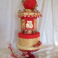 This Is My First Cake To Post On Cake Central I Made This Cake Because I Will Celebrate Chinese New Year On Friday The Top And Middle Cake... This is my first cake to post on Cake Central. I made this cake because I will celebrate Chinese New Year on Friday. The top and middle...