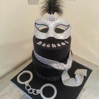 50 Shades Of Grey Cake 2tier cake based on the 50 shades trilogy.