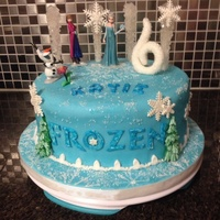 Disney Frozen Birthday Cake