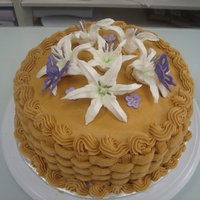 Basket Cake   Butter cream Basket cake with lilys and butterflys :)