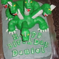 Five Headed Dragon Cake