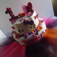 Butterflies, Flowers, And Hello Kitty!  Camryn's Mom wanted something a little over the top, with lots of decorations and here it is! The color scheme was inspired by the...