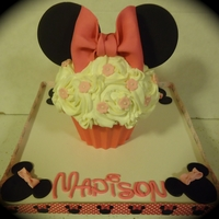 Madison's 1St Birthday Smash Cake  For the darling granddaughter of a dear friend. This was made in the Nordic Cute Cupcake Pan, frosted in buttercream roses and decorated...