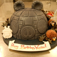 Angry Birds Star Wars Cake Angry Birds Star Wars cake. Gluten Free layers of chocolate, and coconut chocolate chip cake, with vanilla bean buttercream. Fondant...