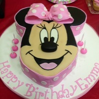 Minnie Mouse Face Birthday Cake For my daughters 4th birthday-love how it turned out...harder that it looks ; )