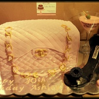 Chanel Bag, Chanel Shoe Cake This cake was for sat Feb 8th..same day a blizzard blocked all of our roads! She made it a couple days later to pick it up..cake is vanilla...