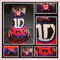 One Direction Birthday Cakeedible Images One direction Birthday Cake..edible images