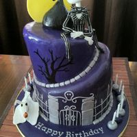 Nightmare Before Christmas Birthday cake for a girl who LOVES this movie...fun to make!