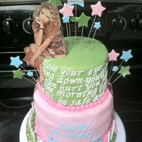 Taylor Swift Cake For A Hug Fans Birthday Edible Image Sitting On Topother Pics Around The Back And Sides Taylor swift cake for a hug fans birthday! Edible image sitting on top..other pics around the back and sides