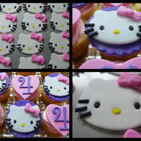 Hello Kitty Cupcakes Hello Kitty Cupcakes to go with my daughters Minnie Cake-she couldnt decide between her two fave girls ; )