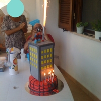 My Nephew Bday Cake it was chocolate cake (no eggs no butter) with pastry cream