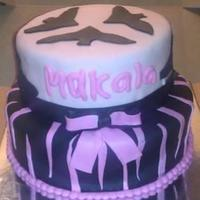 Monster High Two Tiered Fondant Cake With Fondant Bow And Decorations Customer Bought Monster High Doll To Place On Top Monster High two tiered fondant cake with fondant bow and decorations.Customer bought Monster High doll to place on top