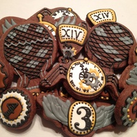 Steampunk Style Cookies This was a hastily put together set of steampunk style cookies for New Year's based on the design of Semisweet Designs (who did a much...