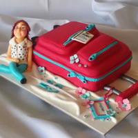 Travel Suitcase Cake