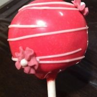 Pink And White Anniversary Cake Pops