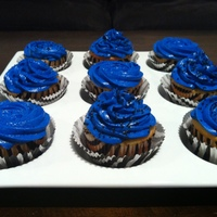 Vanilla Cupcakes With Vanilla Buttercream Zebra And Royal Blue Cupcakes For A Birthday vanilla cupcakes with vanilla buttercream. Zebra and royal blue cupcakes for a birthday!
