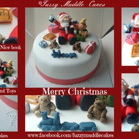 Santa Themed Christmas Cake Santa Themed Christmas Cake