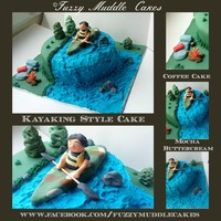 Kayaking Camping Cake Kayaking camping cake