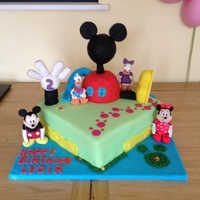 Mickey Mouse Clubhouse Daughters 2nd birthday cake