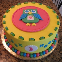 Owl Themed Birthday Cake Made this cake for a friend's daughter using all fondant. I'm fairly new to the cake decorating world and recently took a fondant...