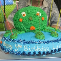 9 Legged Octopus My son's 9th birthday cake, the Octopus has 9 legs, and was made out of Cake