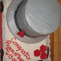 "Top Hat This was done for a Grooms Cake as a ""Groom Shower"" for a co-worker, the base of the had is made out of solid white choclate,..."