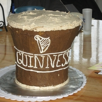 Guiness Cake The Icing was made with Guiness as well, it gave it a carmel flavor, very good