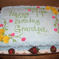 Grandfather's Birthday Cake This is just a simple birthdaycake for my grandfathers 79th birthday.