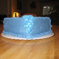 Blue Flower Waterfall The flowers were made out of royal icing a few days in advance.