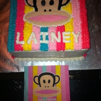 Paul Frank Cake Did a replica of a Paul Frank napkin i got from target. my customer loved the cake and it made her daughter's bday great!