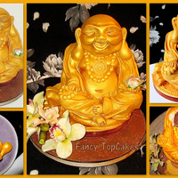 Gold Buddha Cake A Buddha chocolate mud cake with cocolate Butter cream.
